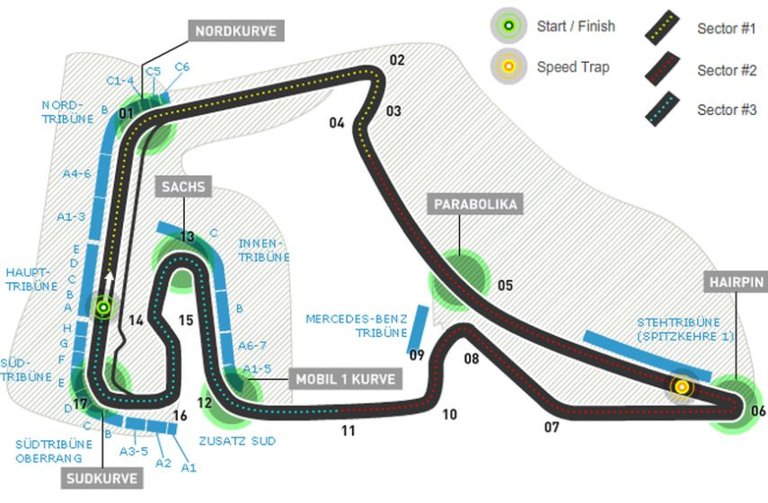 Hockenheimring-map